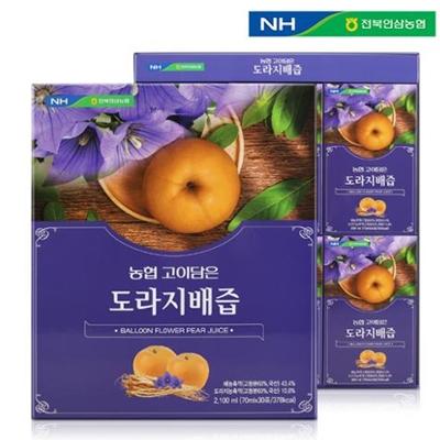 전북인삼농협 고이담은 도라지배즙 70ml x 30포