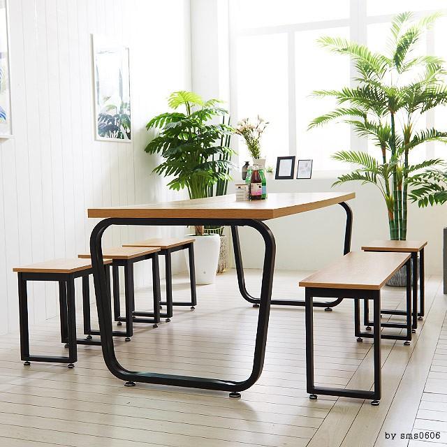 스틸뷰 1800 철제 식탁 테이블