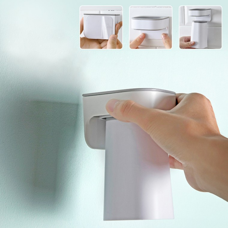 자석 거꾸로 양치컵