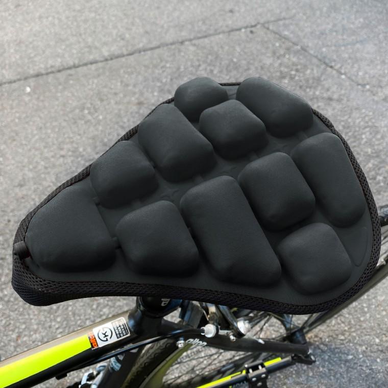 자전거 MTB 로드 에어방석 안장커버 쿠션 M사이즈블랙