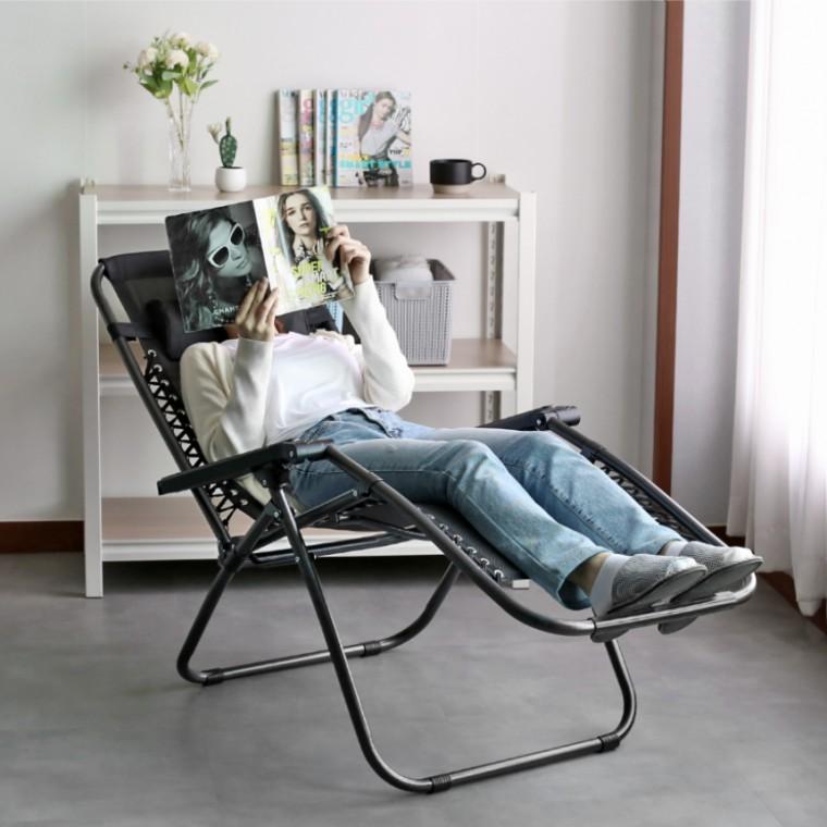 무중력느낌 1인용 접이식 리클라이너 의자